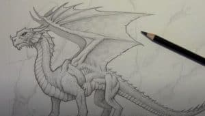 How to draw a dragon by pencil step by step