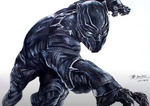How to draw black panther from avengers infinity war