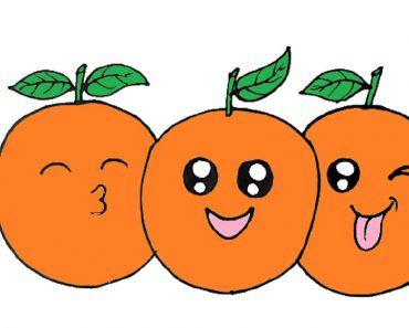 How to draw Orange cute and easy