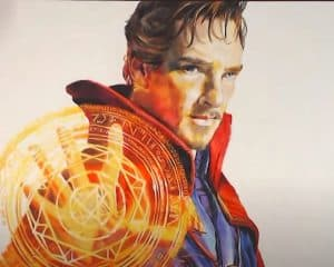 How to draw doctor strange realistic