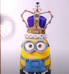How to draw king bob minion step by step