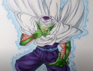 How to draw piccolo from dragon ball z step by step