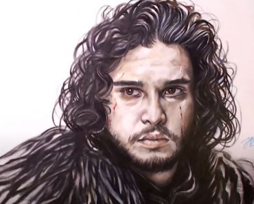 Jon Snow (Kit Harington) from Game of Thrones drawing