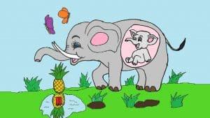 pregnant elephant drawing