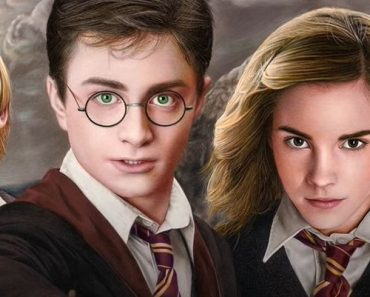 Harry Potter, Ron Weasley, and Hermione Granger Drawing