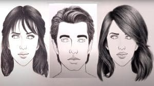 How to Draw Hair Male & Female for beginners