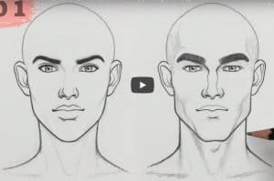 How to Draw a MASCULINE vs FEMININE Face step by step