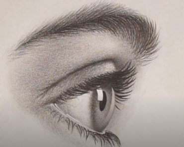 How to Draw an Eye from the Side step by step