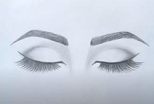 How to draw Closed Eyes by pencil for beginners