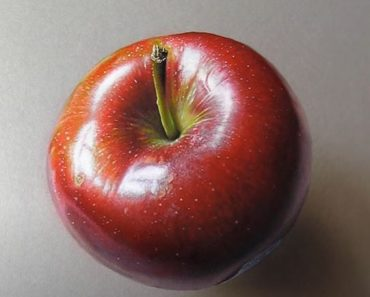 How to draw a 3d apple by pencil