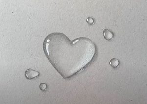 How to draw a 3d heart - 3D Heart Water Drop