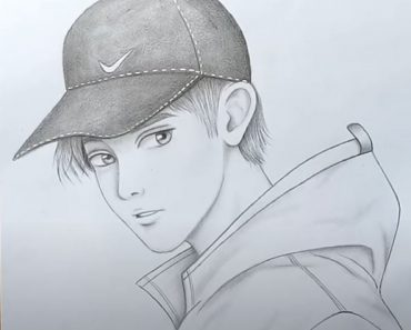 How to draw a boy with Cap for beginners