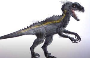 How to draw indoraptor from jurassic world