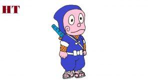 How to draw ninja hattori