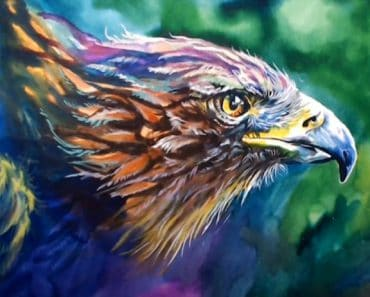 How to paint an eagle step by step