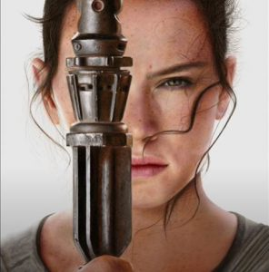 Rey in Star Wars The Force Awakens drawing by pencil