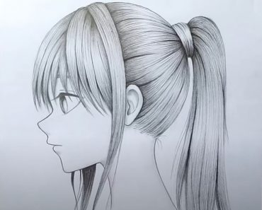 Anime Girl Drawing for beginners by pencil - How to draw anime girl easy