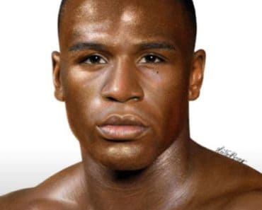 Floyd Mayweather drawing with pencil