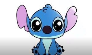 How to Draw Stitch from Lilo and Stitch -