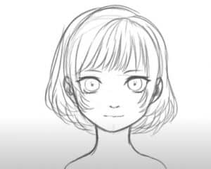 How to draw a Anime Girl Face step by step