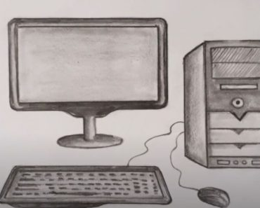 How to draw a Computer Step by step for Beginners