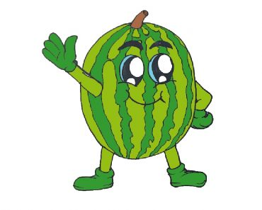 How to draw a Watermelon cute and easy