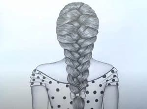 How to draw a braid step by step