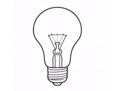 How to draw a light bulb easy for beginners