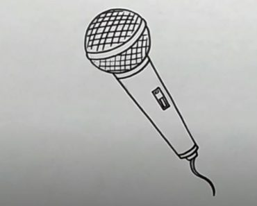 How to draw a microphone