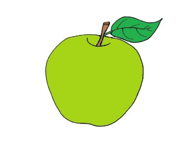 How to draw an Green Apple