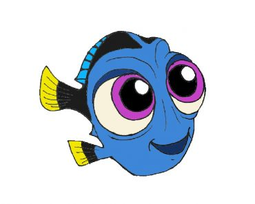 How to draw baby dory fish