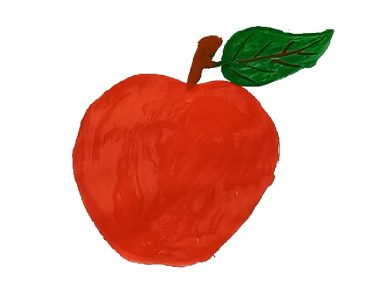 How to paint an Apple