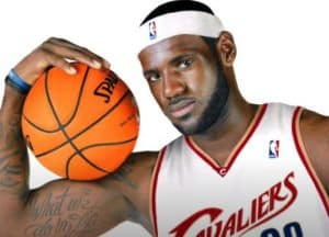 LeBron James drawing with pencil