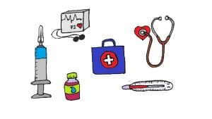 Medical instruments drawing