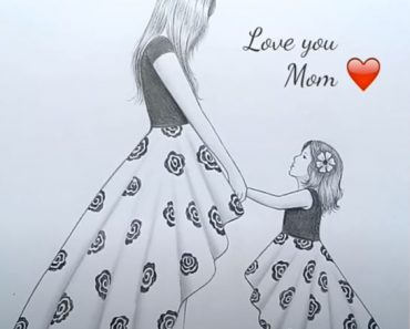 Mother's Day drawings with Pencil for beginners