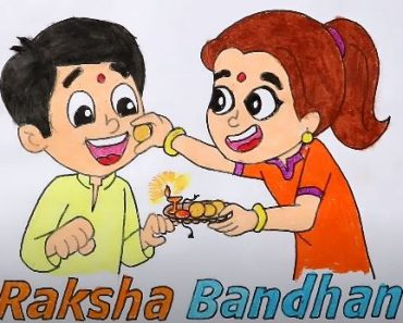 Raksha Bandhan drawing step by step