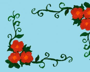 decorative flowers drawing