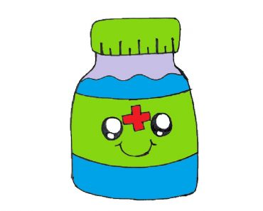 medicine bottle drawing
