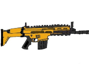 scar gun from Free fire and pubg drawing