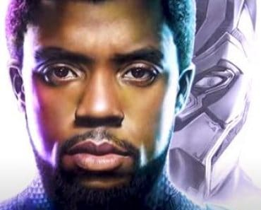 Chadwick Boseman as Black Panther Drawing with pencil