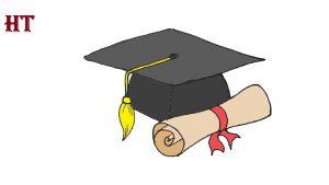 Graduation Cap drawing