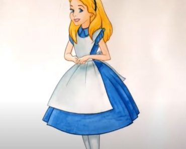 How to Draw Alice in Wonderland step by step