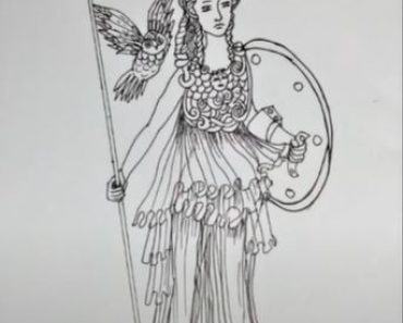How to Draw Athena step by step
