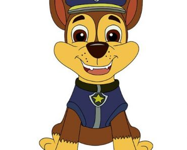 How to Draw Chase from Paw Patrol step by step