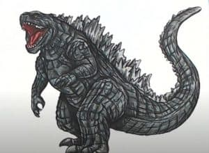 How to Draw Godzilla step by step