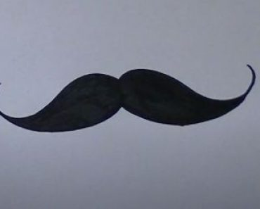 How to Draw a Mustache easy for beginners