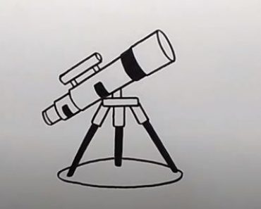 How to Draw a Telescope easy for beginners