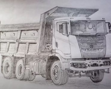How to Draw a Truck for beginners - Pencil drawing tutorial
