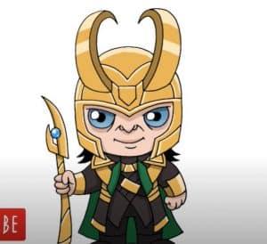 How to draw Loki step by step