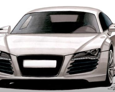How to draw a Car - Audi R8 drawing